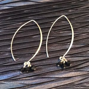 SILPADA .925 Sterling & Obsidian Bead Earrings